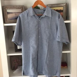 CUBAVERA casual button up. 100% polyester.